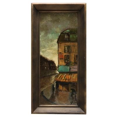 "Emilie Schramek Oil Painting ""Rainy Day"""