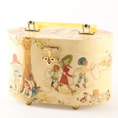Judith Prothro Découpage Box Purse, 1970s Vintage