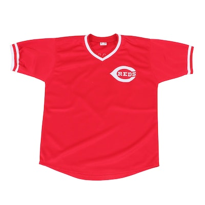 Johnny Bench Signed Cincinnati Reds Replica Baseball Jersey, JSA COA