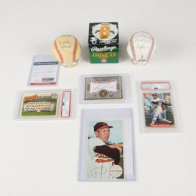 Brooks Robinson Autographed Baseball and Other Orioles Memorabilia