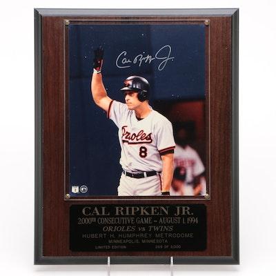 Cal Ripken Jr. HOF Limited Edition Autographed Mounted Photograph