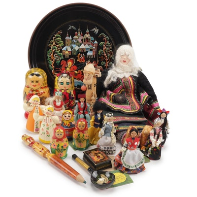 Matryoshka and Russian Handicraft Dolls