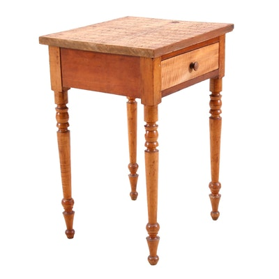 Federal Tiger Maple End Table, 19th Century