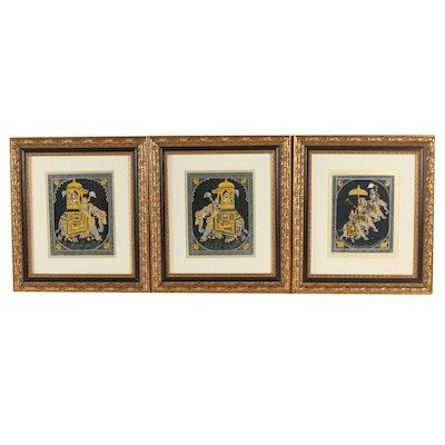 Indian Gouache Paintings on Silk