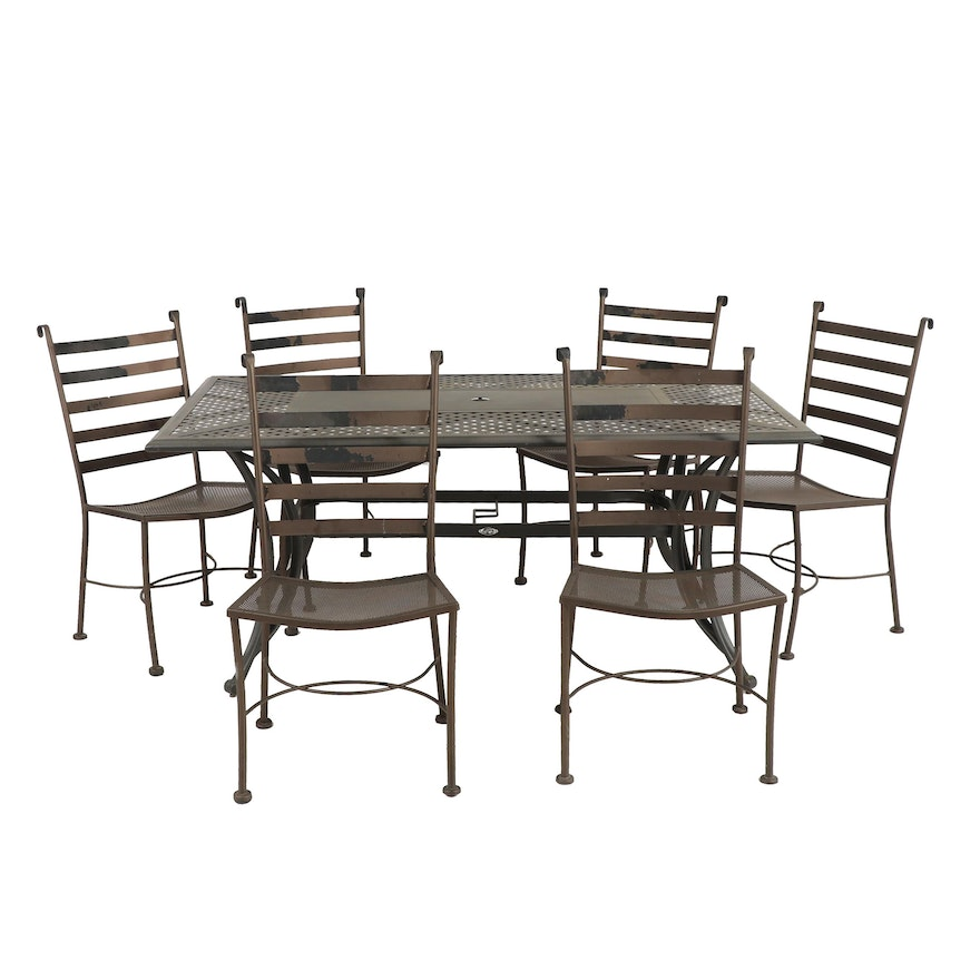 Contemporary Hampton Bay Metal Patio Table and Chairs