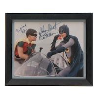 "Adam West and Burt Ward Signed ""Batman and Robin"" TV Series Framed Print, PSA"