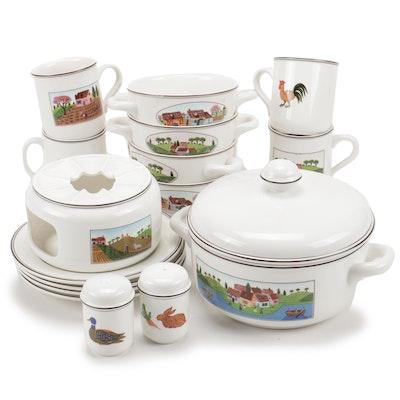 "Villeroy & Boch ""Naif"" Porcelain Dinnerware and Serveware"