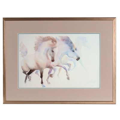 Béatrice Bulteau Giclée of Galloping Horses