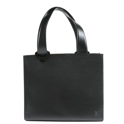 Louis Vuitton Paris 'Z' Gemeaux Tote Bag in Black Epi Leather
