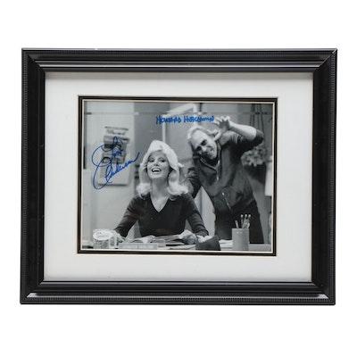 """Lonnie Anderson and Howard Hesseman Signed """"WKRP in Cincinnati"""" Print, JSA COA"""