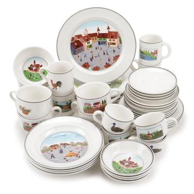"""Villeroy & Boch """"Naif"""" Porcelain Dinnerware"""