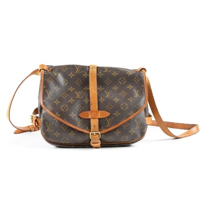 Louis Vuitton Paris Saumur 30 Crossbody Bag in Monogram Canvas, Vintage