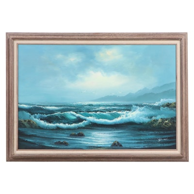Gould Seascape Oil Painting