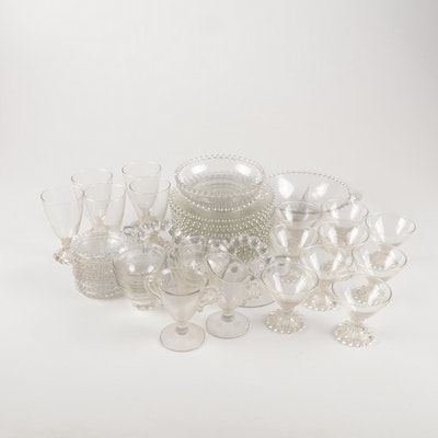 """Imperial Glass """"Candlewick"""" and Anchor Hocking """"Boopie"""" Tableware and Stemware"""