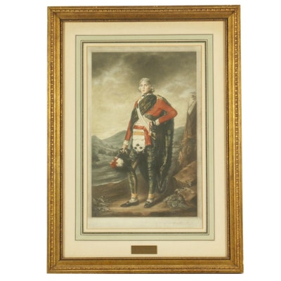 Alfred Skrimshire Mezzotint after Henry Raeburn Portrait of John Sinclair