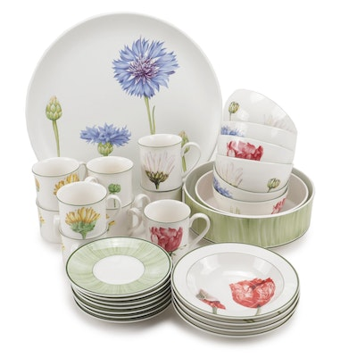 "Villeroy & Boch ""Flora"" Mix and Match Pattern Cups and Dinnerware"