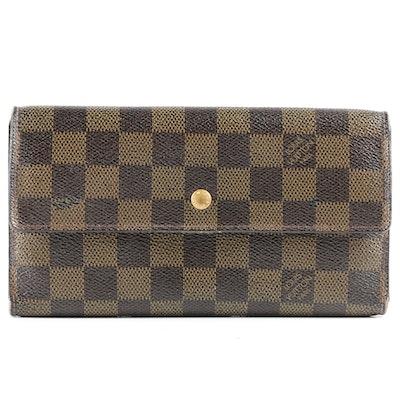Louis Vuitton Paris Flap Wallet in Damier Ebene Canvas