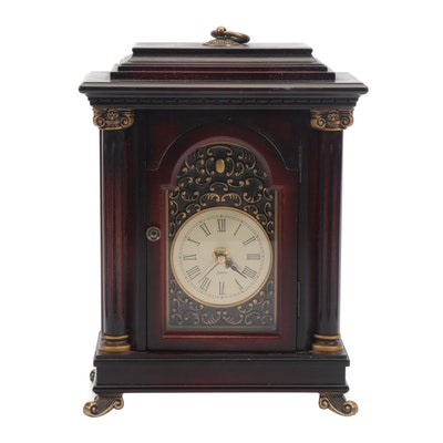 Bombay Cherry Wood Quartz Mantle Clock with Storage Compartment, 2001