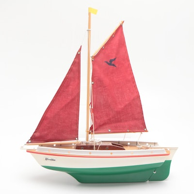 "Seifert-Boot ""Krabbe"" Wood and Plastic Sailboat, Late 20th Century"