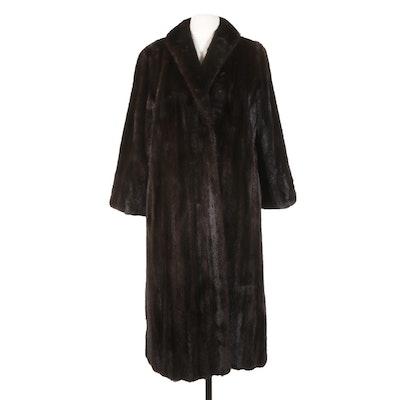 Sprei Freres Dark Mahogany Mink Fur Coat