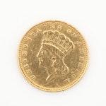 1874 Indian Princess Head Gold Dollar