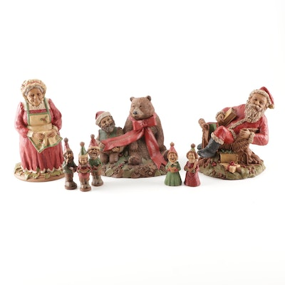 "Eight Thomas Clark Figurines Featuring ""Cairn Christmas 1997"""