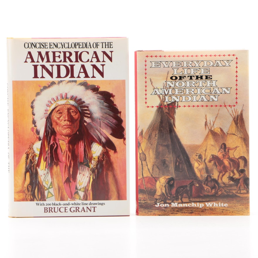 "Native American History Books including ""Concise Encyclopedia,"" 1989"
