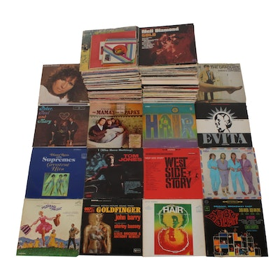 Vintage Records by ABBA, The Supremes, Mamas and the Papas, Peter Paul & Mary