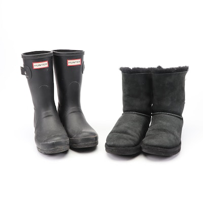 Women's Hunter and UGG Australia Boots
