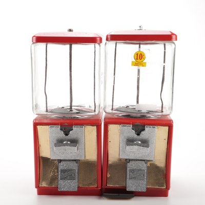 Northwestern Coin Operated Red Candy Vending Machines