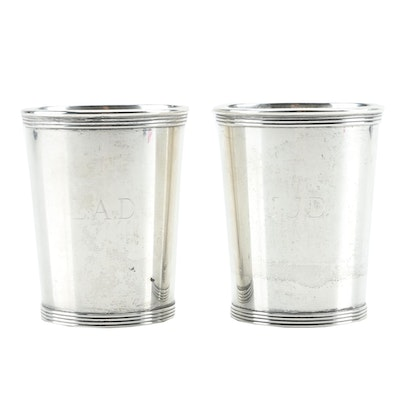 Alvin Sterling Silver Mint Julep Cups, Circa 1920s