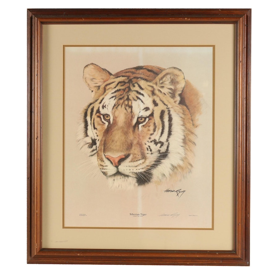 """Harold Rigsby Offset Lithograph """"Siberian Tiger"""""""