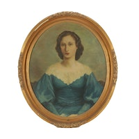Early 20th Century Oil Portrait Painting