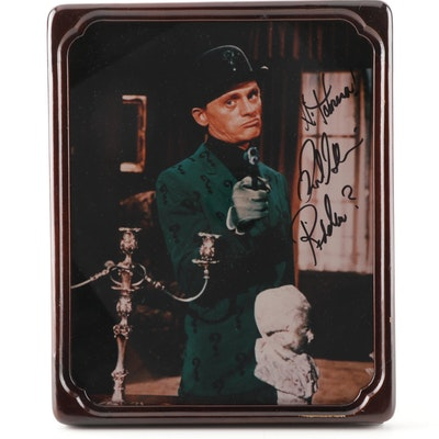 "Autographed Frank Gorshin ""Riddler"" Photograph"