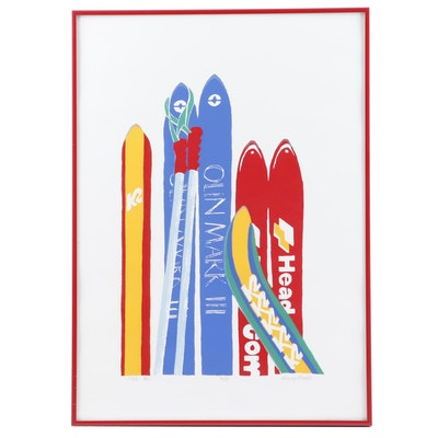 "Nancy Howell Serigraph ""Skis Me"""