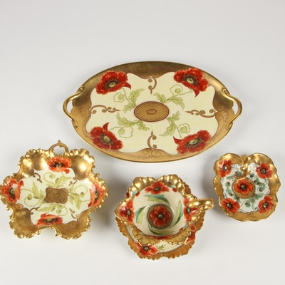 Pickard Hand-Painted Ceramic Tableware; Early 20th Century