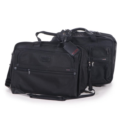 Tumi Black Nylon and Leather Carry-On Bags