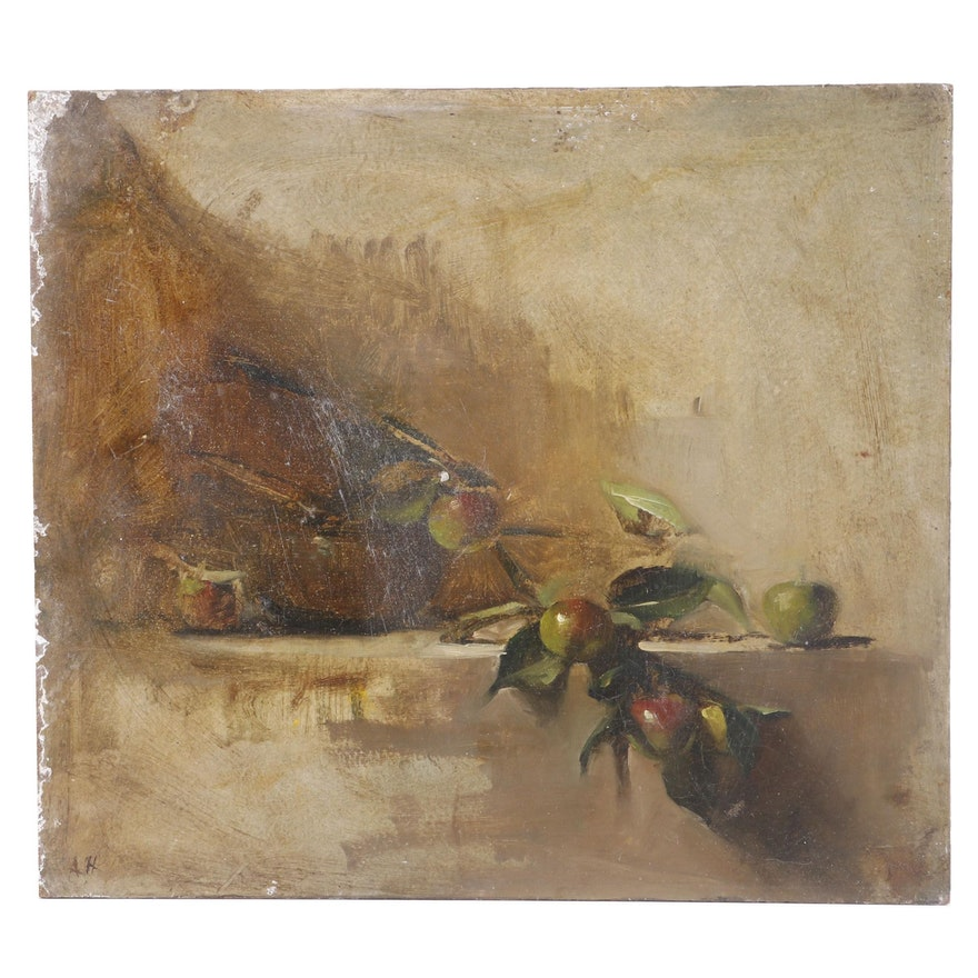 A.H. Still Life Oil Painting