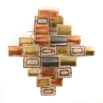 Contemporary Anodized Copper and Metal Wall Hanging
