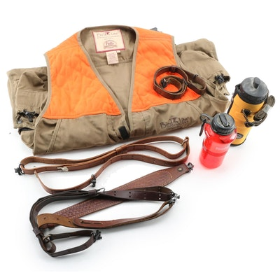 Bird'n Lite Hunting Vest, Water Bottles, and Leather Harness Belts
