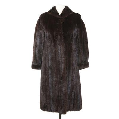 Mahogany Mink Fur Coat, Vintage