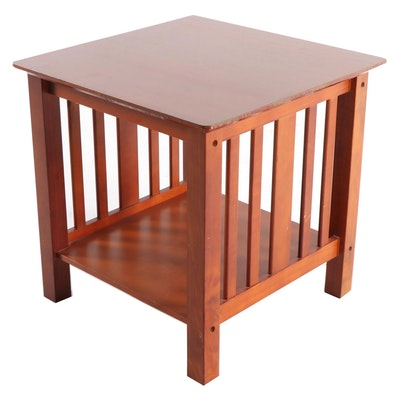 Arts & Crafts Style Cherry Side Table, Contemporary