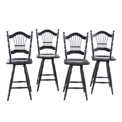 Swivel Chairs, Set of Four
