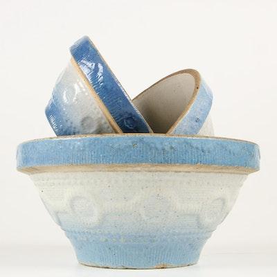 Salt Glaze Stoneware Nested Mixing Bowls