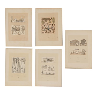 """Early 20th Century Lithographs from Racinet's """"Le Costume Historique"""""""