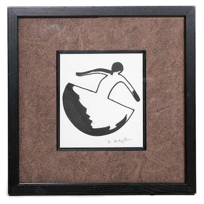 Bill Schiffer Figural Marker Drawing