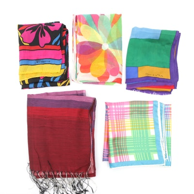 Oscar de la Renta, Liz Claiborne, and Other Silk Scarves