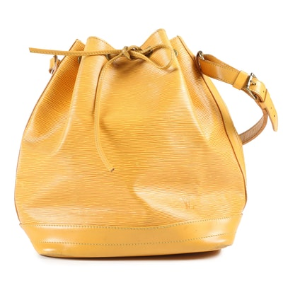 Louis Vuitton Noé Drawstring Bag in Tassil Yellow Epi Leather