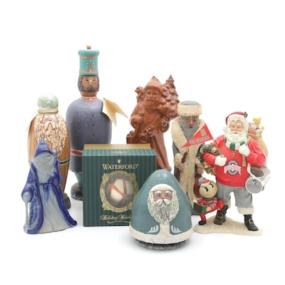 Holiday Themed Figurines Featuring Waterford Ornament