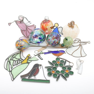 Blown and Stained Glass Ornaments and Decor Featuring Blenko